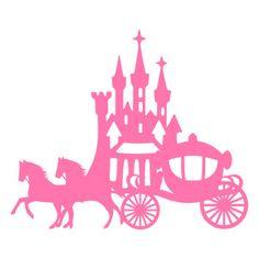 Silhouette Design Store: princess castle and horse carriage Princess Silhouette, Girl Silhouette, Silhouette Design, Machine Silhouette Portrait, Disney Silhouettes, Images Disney, Silhouette Online Store, Horse Carriage, Princess Castle