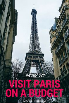 How to visit Paris on a budget. I saved SO MUCH money on my trip to Paris with these tips! Love this guide for first-time visitors.