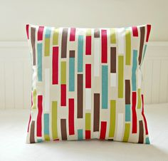 retro teal blue lime green red brown abstract- fun!