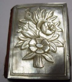 rare carved Mother of Pearl needle book Needle keep Palais Royal ? case   eBay