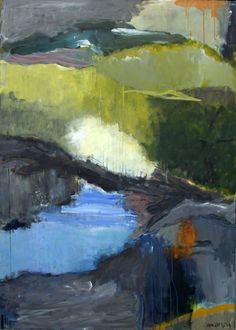 Solgte malerier - helgahallasbjerg.dk Green Magic, Contemporary Abstract Art, Abstract Paintings, Scandinavian, Landscape, Artist, Poster, Beauty, Abstract Art