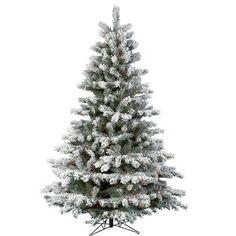 Flocked and Frosted Christmas Trees on Pinterest