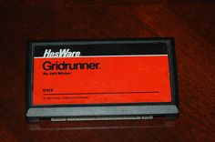 Commodore Vic-20 game cartridge GRIDRUNNER by Jeff Minter