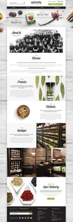 We love the background spices and wood blocks. Really adds a nice flavor to this website (ha - get it?) #webdesign #ecommerce