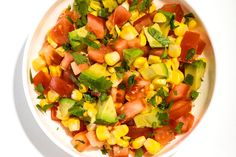 Tomato, Corn, and Avocado Salsa