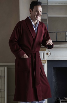 his luxurious cashmere robe is impeccably designed with a deep shawl collar three roomy silk-lined pockets and a wide tie belt. It is individually tailored to order from soft Italian cashmere fabric and lined with sumptuous silk by our Somerset seamstresses. For those who would prefer to just feel the soft & luxurious cashmere we offer a non-lined version - see code 'CAMD' for the option to purchase this robe without a silk lining.