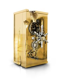 Millionaire safe box , luxury safe for your private treasures. Perfect for your modern interiors. Handmade piece with luxury details. #safebox #luxury #furniture #design #safe