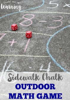 Make arithmetic fun for kids with this Sidewalk Chalk Outdoor Math Game! Awesome for active learners!