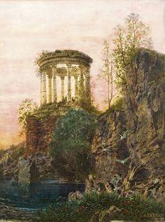 Ferdinand Knab ~ Antique rotunda. 1893