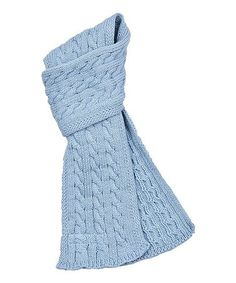 Love this Aqua Cable-Knit Scarf on #zulily! #zulilyfinds