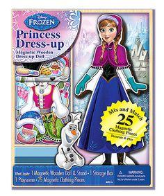 Loving this Frozen Anna Dress-Up Magnetic Set on #zulily! #zulilyfinds