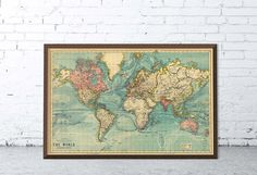 Map of the world Vintage map of the world The by AncientShades