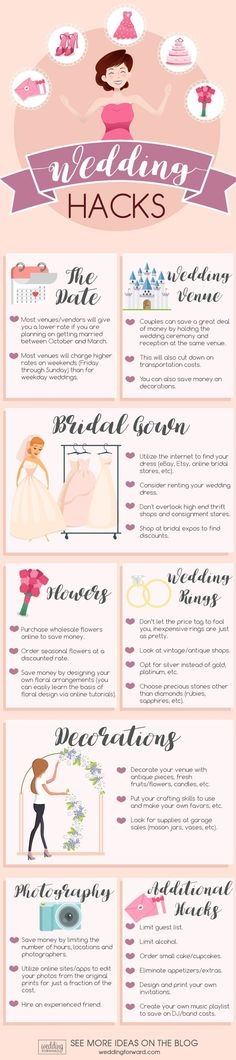Helpful Wedding Planning Infographics That Will Save You From A Pre-Wedding Heart Attack ❤ See more: http://www.weddingforward.com/helpful-wedding-planning-infographics/ #weddingforward #bride #bridal #wedding #weddingplanninginfographic #planawedding #weddinginfographic