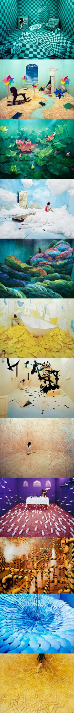 JeeYoung Lee, a Korean artist, creates amazing scenes without using any digital manipulation.