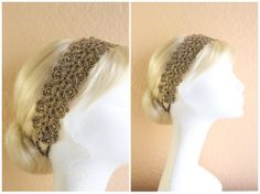 Hey, I found this really awesome Etsy listing at http://www.etsy.com/listing/115608072/metallic-gold-lace-elastic-headband-boho