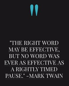 Words and Pauses