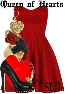 """Disney Style : Queen of Hearts"" by missm26 on Polyvore"