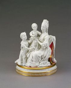 Queen Charlotte and daughters Chelsea-Derby Porcelain c1773  Royal Collection Trust   Her Majesty Queen Elizabeth II 2017