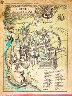 Hogwarts: The Illustrated Map. I want this for that massive, beautiful library I will eventually have...