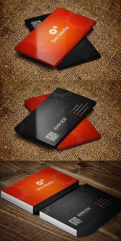 SEO Company Business Card. Creative Business Card Templates