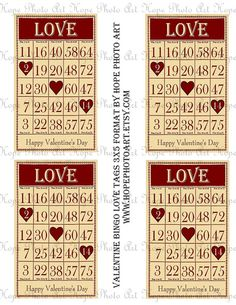 Your place to buy and sell all things handmade Valentine Love, Valentine Bingo, Vintage Valentines, Happy Valentines Day, Atc Cards, Bingo Cards, Scrapbook Designs, Pocket Cards, Cards