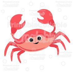 Cute Crab SVG Cut Files & Clipart - Cuttable SVG Files for your Silhouette or Cricut cutting machines! Limited Commercial Use included! #scrapbooking #cardmaking #papercraft #vinylideas #vinylcrafts #cutfiles #cutfilessvg #cuttingfiles #svgfiles #scrapbookcutting #partyprintables #beachlife #silhouettefiles #cricutfiles #mermaidclipart #oceanparty #mermaidtheme #underthesea crabby