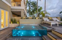 Glass Walled Pools - Acrylic Walled Pools - Glass Above Ground Pool Swiming Pool, Small Swimming Pools, Luxury Swimming Pools, Small Pools, Swimming Pools Backyard, Luxury Pools, Infinity Pool Backyard, Backyard Pool Designs, Small Indoor Pool
