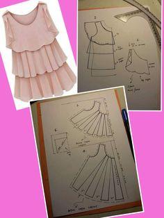 Frock Patterns, Kids Dress Patterns, Dress Making Patterns, Clothing Patterns, Sewing Patterns, Pattern Cutting, Pattern Making, Sewing Clothes, Diy Clothes
