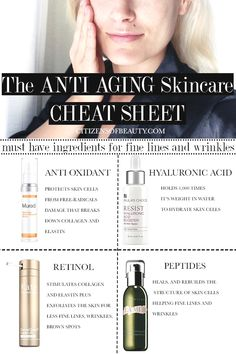 Basic Anti Aging Skincare Ingredients – Citizens of Beauty Anti-aging skin care and ingredients can be confusing. But with these basic anti-aging skin care tips, you can easily tackle fine lines, wrinkles, and brown spots. Anti Aging Tips, Best Anti Aging, Anti Aging Skin Care, Anti Aging Products, Anti Aging Moisturizer, Creme Anti Age, Anti Aging Cream, Beauty Care, Beauty Hacks