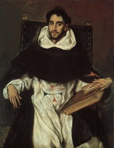 """El Greco - Portrait of Fray Hortensio Felix Paravicino, 1609, Oil on canvas. 44 1/2 x 33 3/4"""". Museum of Fine Arts, Boston, MA, USA."""