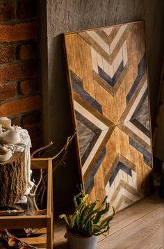 Reclaimed Wood Wall Art, Wood Wall Decor, Wood Art, Salvaged Wood, Wood Mosaic, Mosaic Wall Art, Diy Wall Art, Diy Home Crafts, Wood Crafts