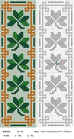 FREE cross stitch bookmark Shamrock Bookmark by NevaSirenda.deviantart.com on…