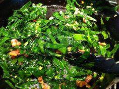 Sauteed Collard Greens with Garlic (and how to prepare collards)