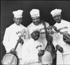 Jug Band, Univ of Louisville Libraries Digital Collections. Chefs, Banjo, Guitar, No One Loves Me, Ephemera, Rock, First Love, Musicals, Photographs