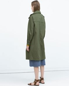 Ivona  Image 6 of OVERSIZED COTTON TRENCHCOAT from Zara