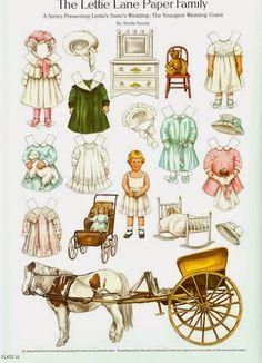 Lettie Lane Paper Family | Gabi's Paper Dolls