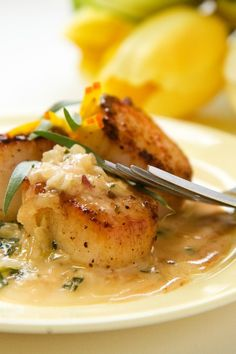 Scallops with Cilantro & Ginger-Lime Sauce (I will use coconut oil instead of butter).