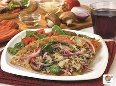 Herbed Garden Pizza WhatsCooking.usda.gov #veggies #grains #dairy #MyPlate