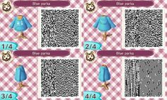Animal Crossing QR codes for a blue hoodie