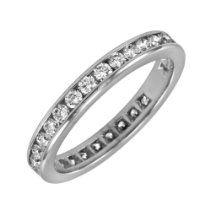 14k Gold Channel-Set Diamond Eternity Ba