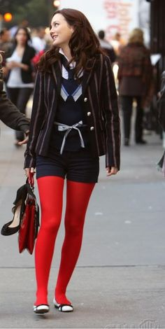 tights and shorts 1.10 #Blair Waldorf #Gossip Girl