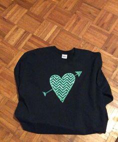 Glitter HTV on a long sleeve shirt...