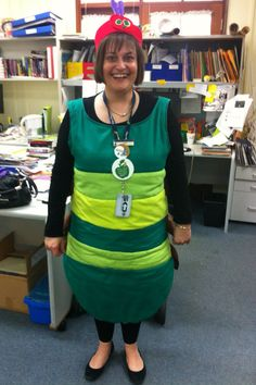 My Very Hungry Caterpillar costume, which I made for Children's Book Week, 2012.