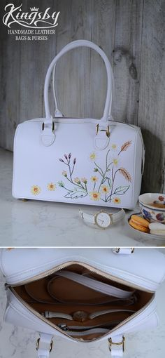 The bag was made of high-quality epi leather, so stylish and fancy. Epi leather material is used by famous fashion brand Louis Vuitton. You will love it for the first time you touch it. It can help you carry a lot of things such as coins, cards, and phone. DIMENSIONS: Height: 20cm / 7.8 inches Width: 30cm / 11.8 inches Depth: 15cm / 5.9 inches