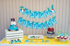 Colorful Pool themed birthday party via Kara's Party Ideas KarasPartyIdeas.com #lpoolparty (35)
