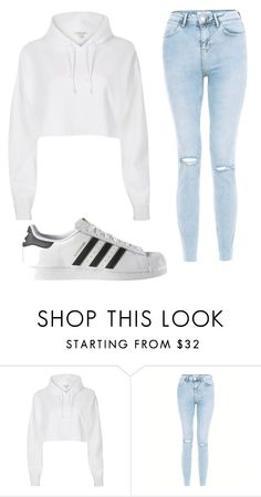 """""""Normal everyday outfit"""" by vanesavine ❤ liked on Polyvore featuring River Island, New Look and adidas"""
