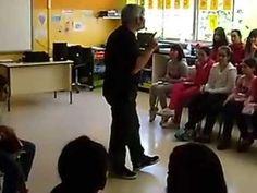 VÍDEO. Espectáculo poético «A poesía é un globo», de Fran Alonso no CEIP Mestre Vide, Ourense, outubro de 2014.