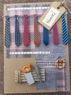 scrapbook card men tie and tools