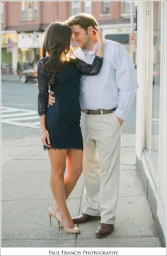 Beautiful engagement session photos in downtown Westfield!