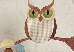 Decorate your home for fall with this charming wool applique owl. He's perfect for a pillow, table runner, or wallhanging.